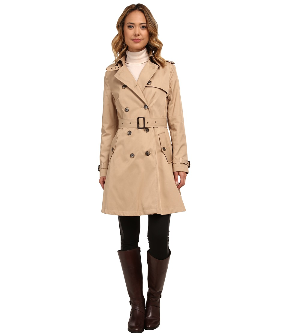LAUREN Ralph Lauren - Kent Skirted Trench (Racing Khaki) Women's Coat