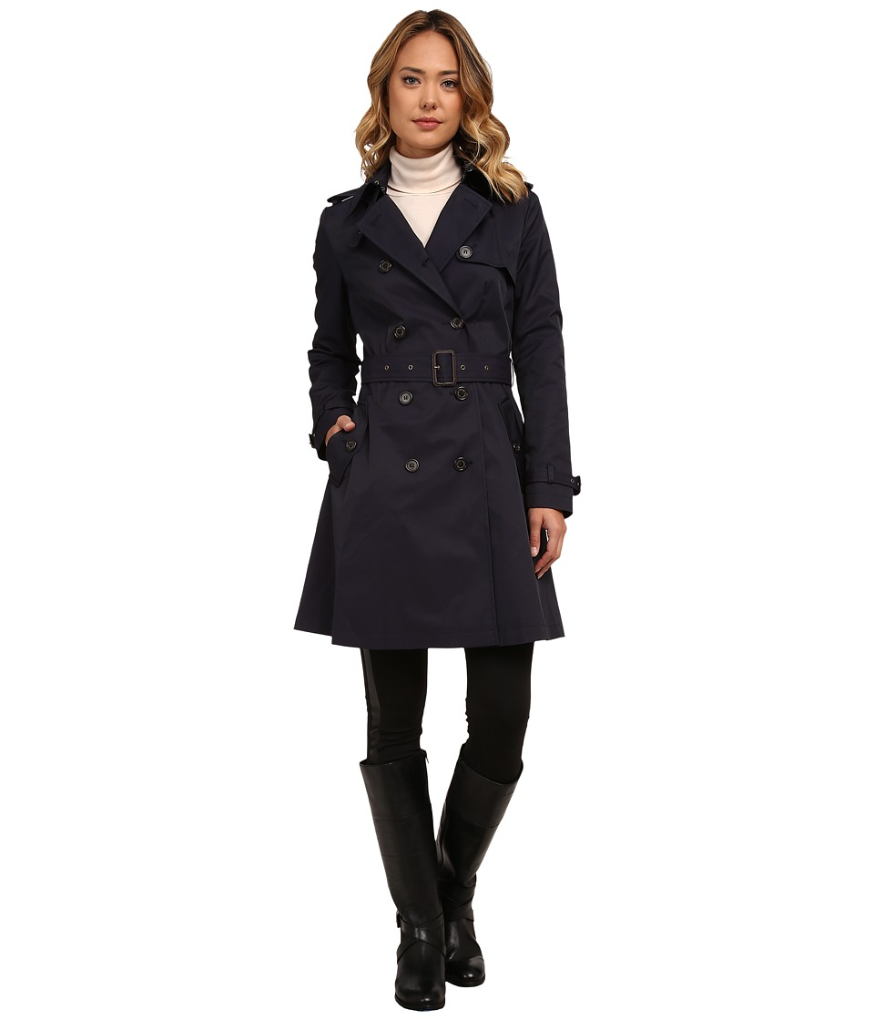 LAUREN Ralph Lauren - Kent Skirted Trench (Regal Navy) Women's Coat