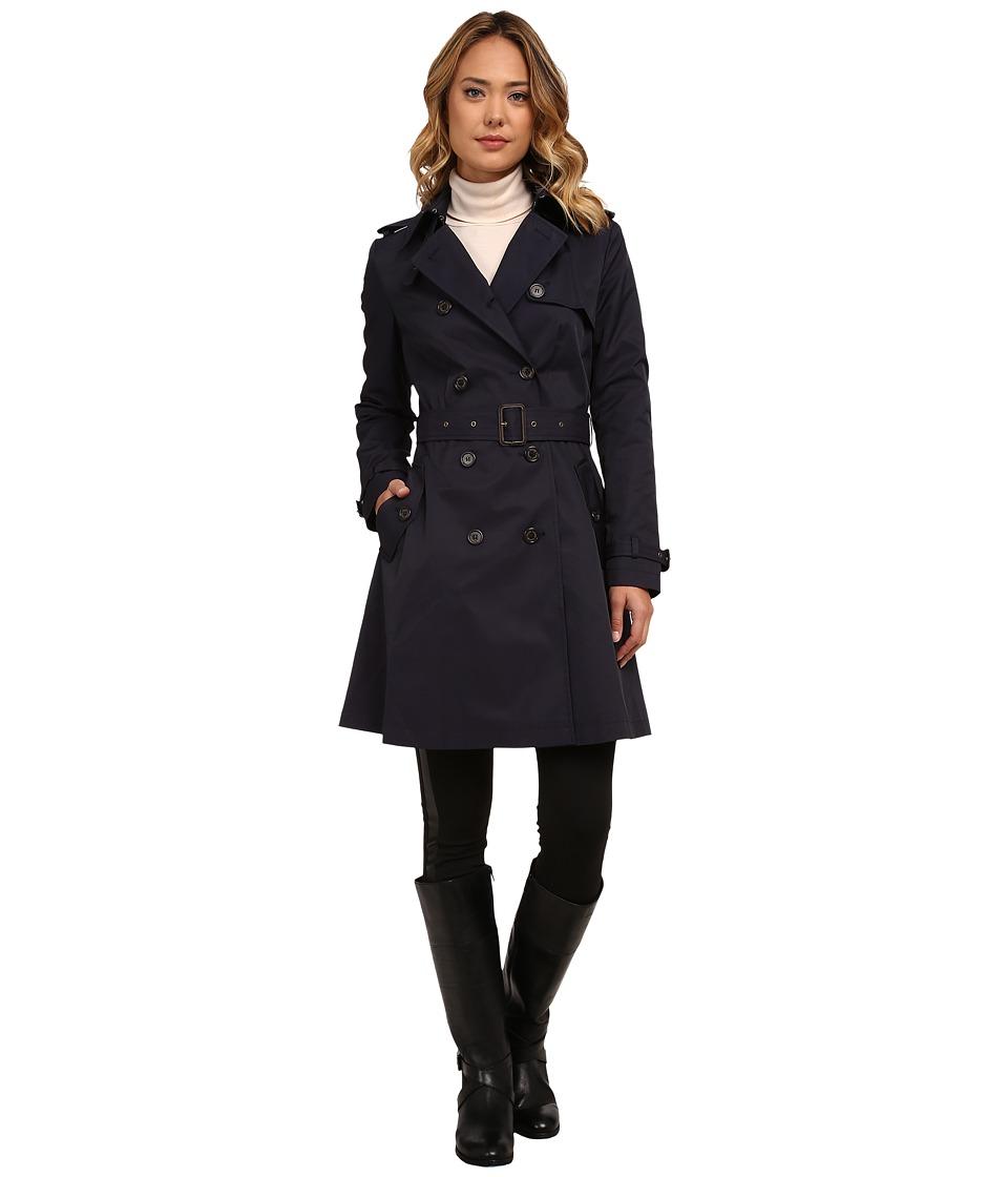 LAUREN Ralph Lauren - Kent Skirted Trench (Regal Navy) Women's Coat