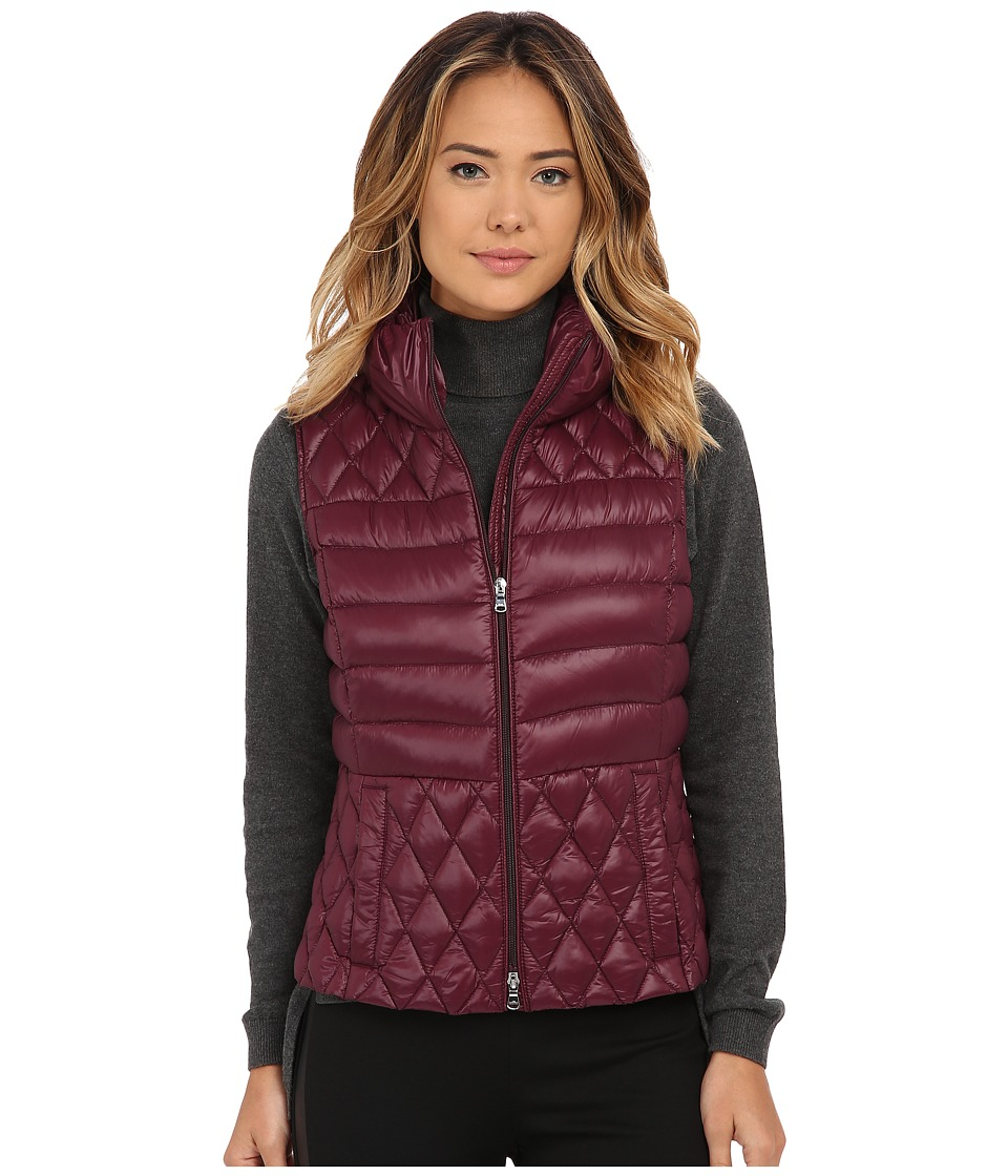 LAUREN Ralph Lauren - Vest w/ Side Faux Leather Buckle (Wine) Women's Vest