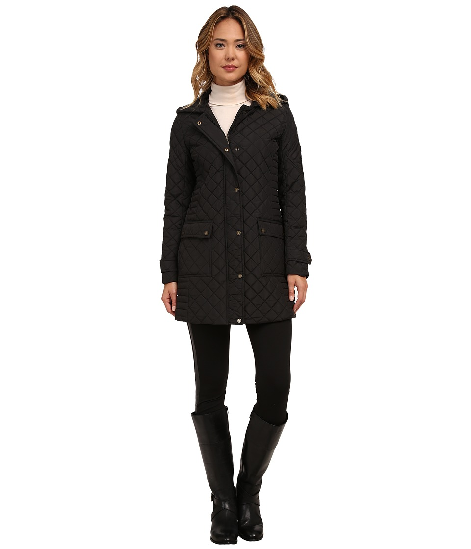 LAUREN Ralph Lauren - 3/4 Hooded Rail (Black) Women's Coat