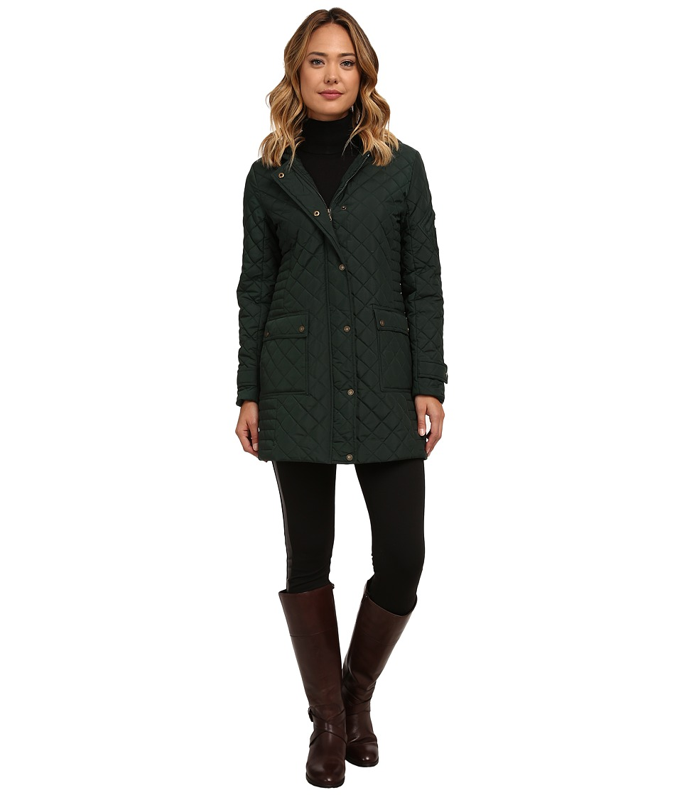 LAUREN Ralph Lauren - 3/4 Hooded Rail (Forest Green) Women's Coat