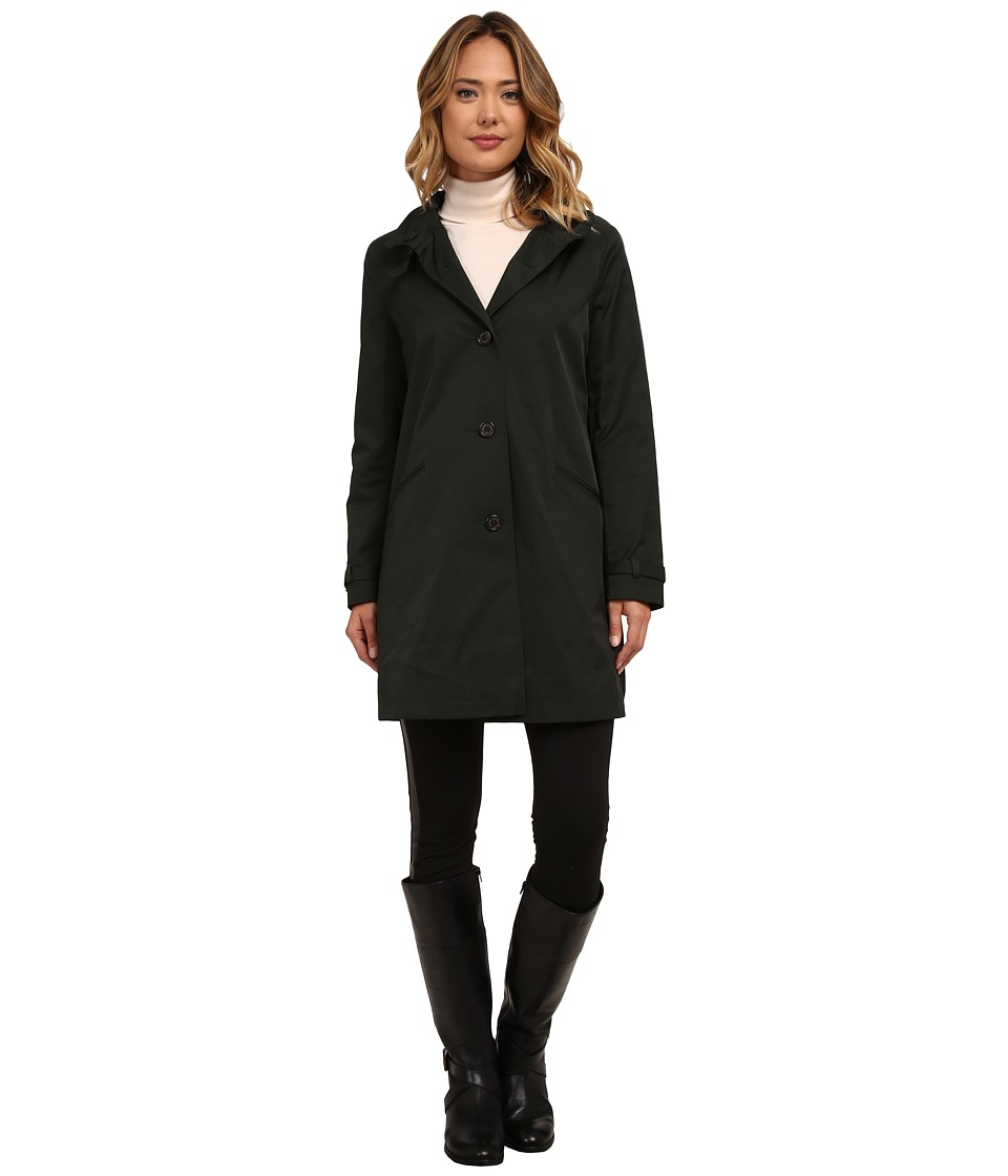 LAUREN Ralph Lauren - A-Line w/ Neck Buckle Removable Hood (Forest Green) Women's Coat