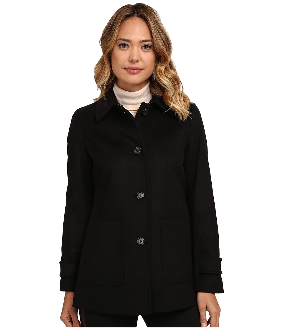 LAUREN Ralph Lauren - Patch Pocket Barn (Black) Women's Coat