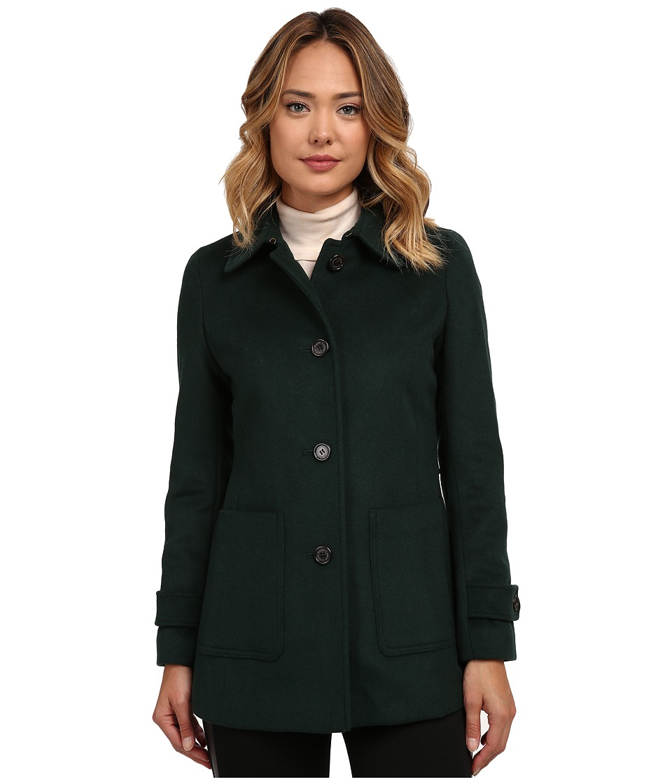 LAUREN Ralph Lauren - Patch Pocket Barn (Forest Green) Women's Coat