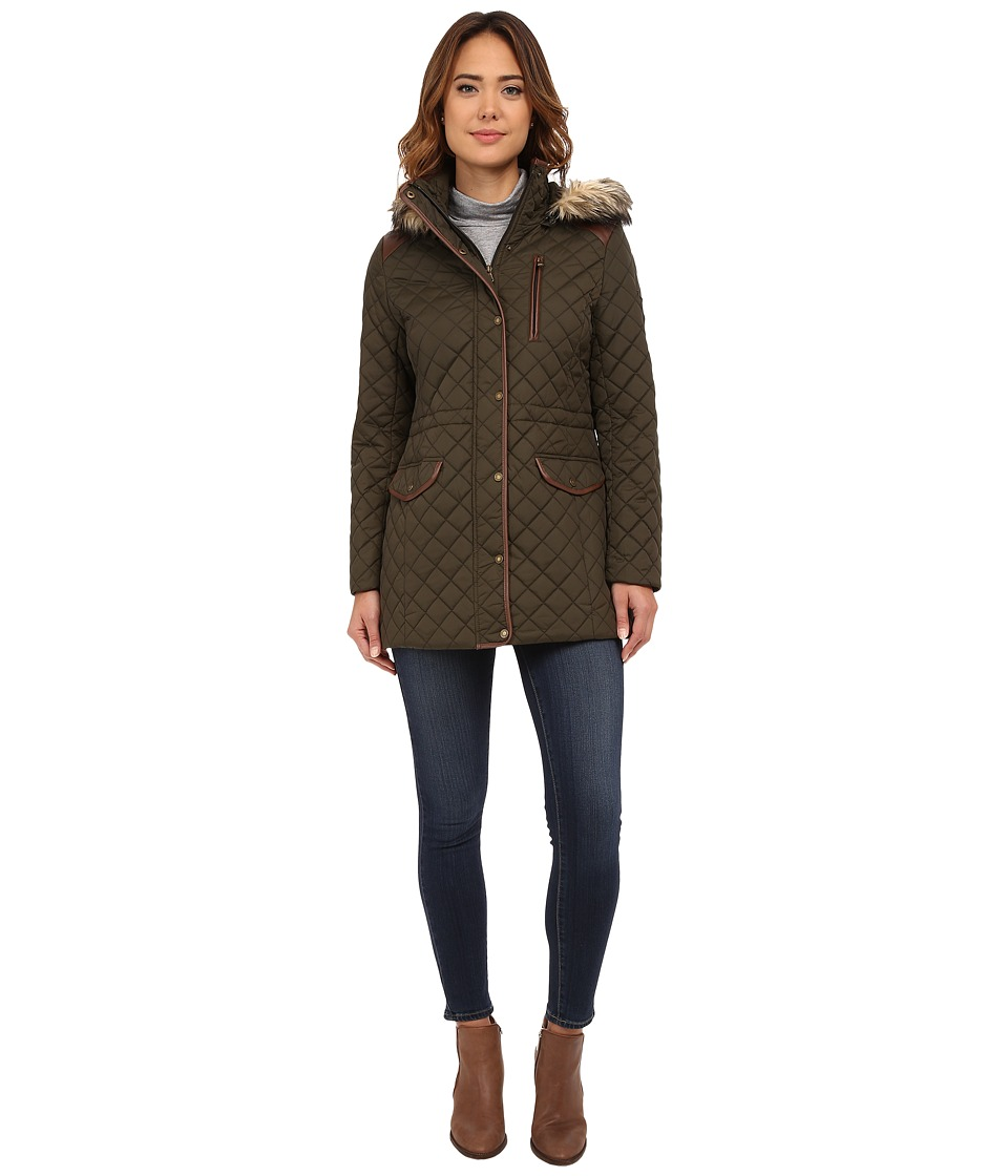LAUREN Ralph Lauren - Anorak w/ Faux Fur Trim (Litchfield Loden) Women's Coat