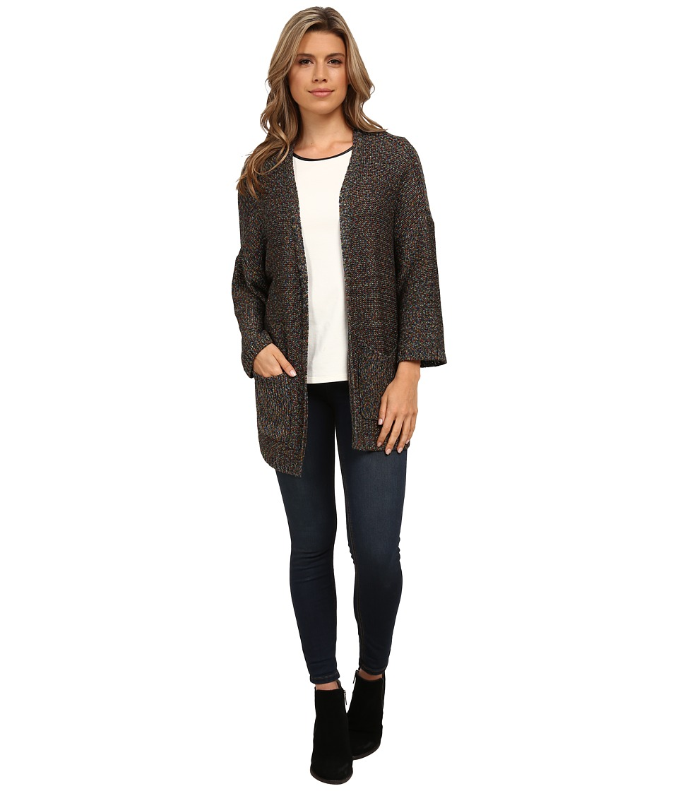 kensie - Rainbow Threads Cardigan KS0K5063 (Black Combo) Women's Sweater