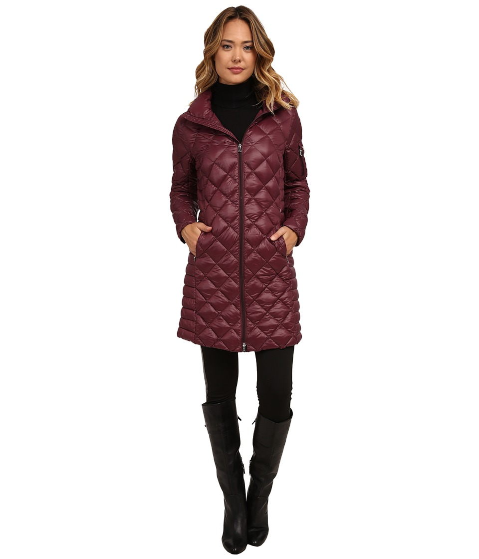 LAUREN Ralph Lauren - 3/4 Walker (Wine) Women's Coat