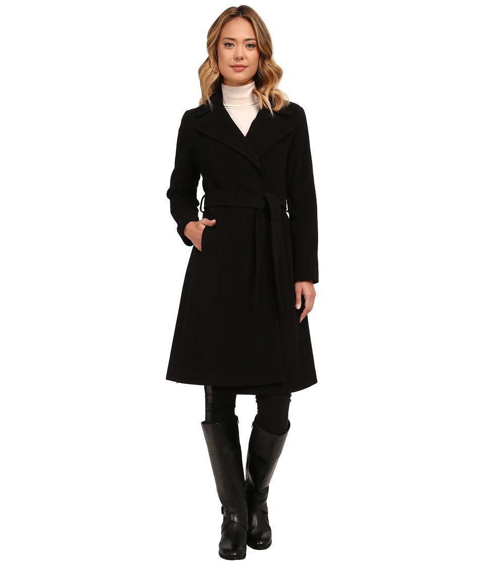 LAUREN Ralph Lauren - Cashmere Blend Blanket Wrap (Black) Women's Coat