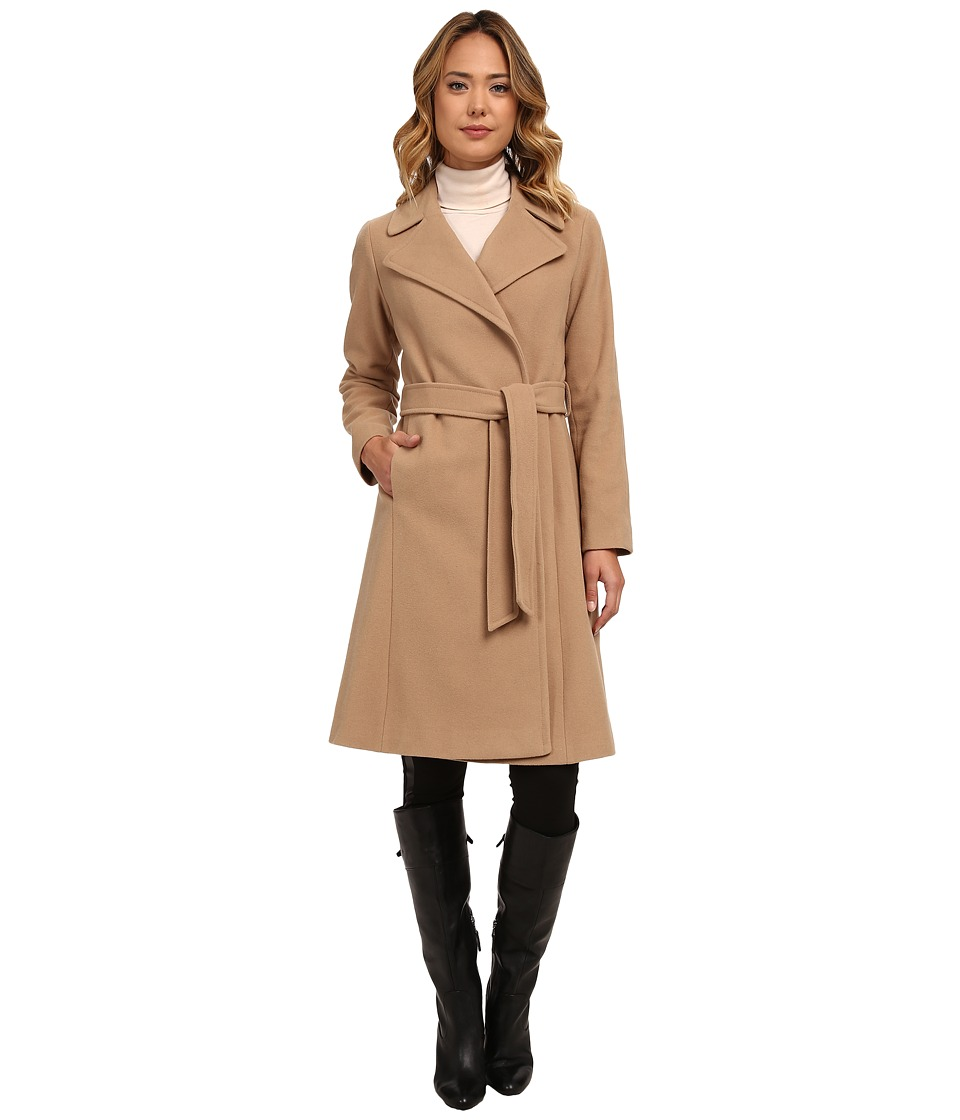 LAUREN Ralph Lauren - Cashmere Blend Blanket Wrap (Laurel Camel) Women's Coat