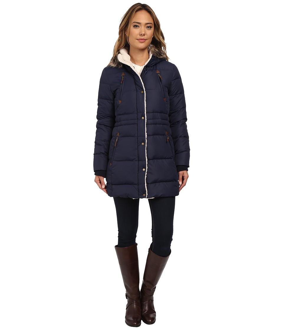 LAUREN Ralph Lauren - Berber Trim Anorak (Regal Navy) Women's Coat