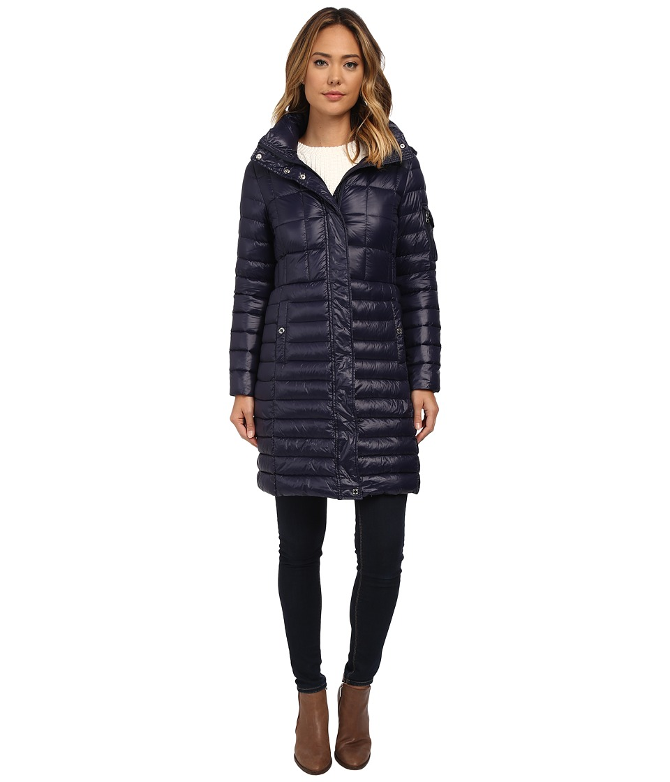 LAUREN Ralph Lauren - Multi Quilt w/ Removable Hood (Regal Navy) Women's Coat