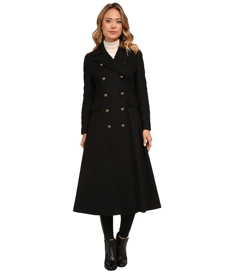 LAUREN Ralph Lauren - Cashmere Blend Military Maxi (Black) Women's Coat