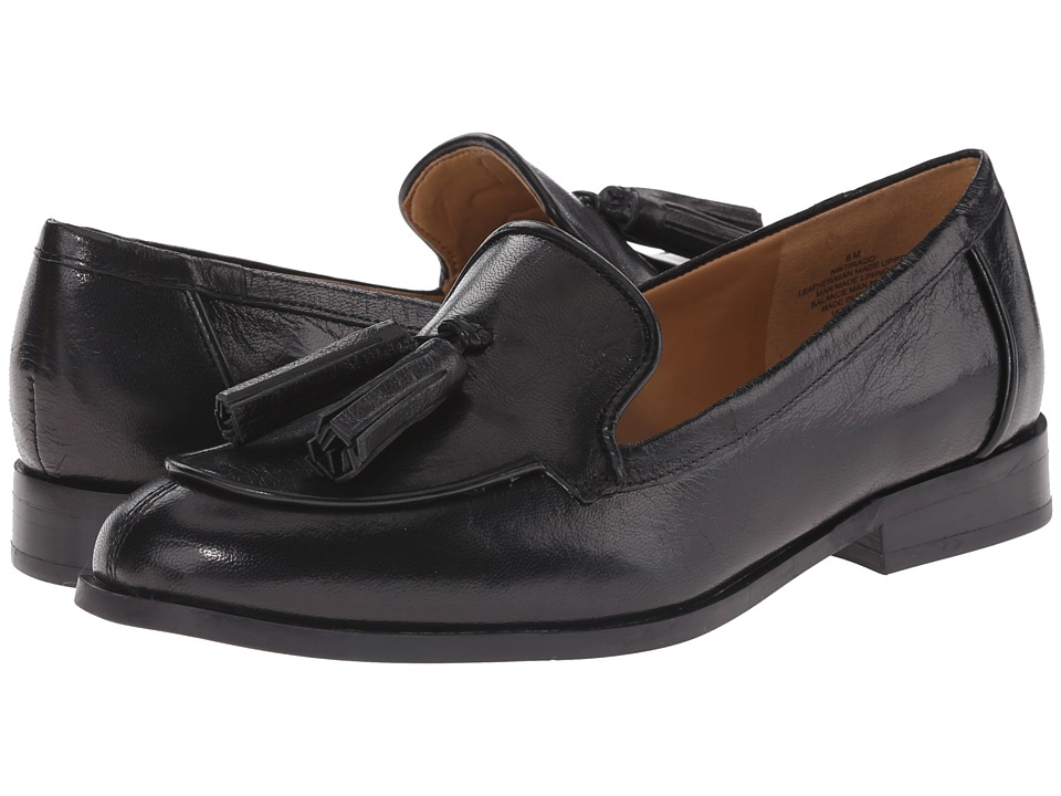 Nine West - Tirado (Black/Black Leather) Women's Slip on Shoes