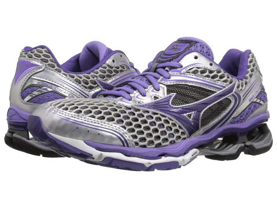 Mizuno - Wave Creation 17 (Silver/Gentian Violet/Dahlia Purple) Women's Running Shoes