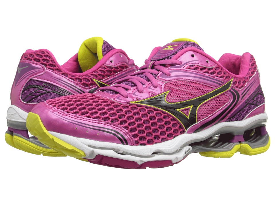 Mizuno - Wave Creation 17 (Fuchsia Purple/Black/Bolt) Women's Running Shoes