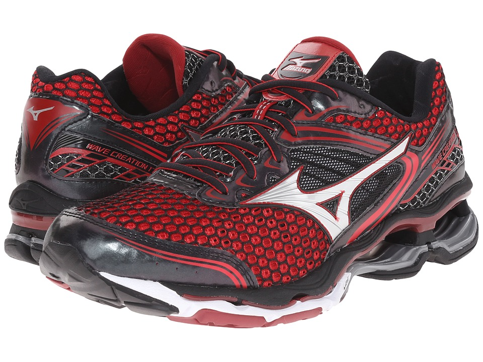 Mizuno - Wave Creation 17 (Chinese Red/Black/Red Dahlia) Men's Running Shoes