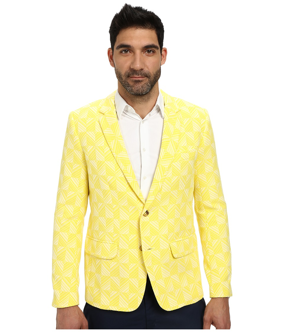 Mr.Turk - Chev Jacquard Jacket (Yellow) Men's Coat