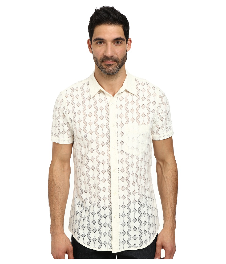 Mr.Turk - Textured Shirting (Ivory) Men's Clothing