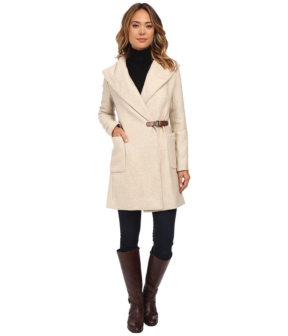 LAUREN Ralph Lauren - Buckle Front Wrap Coat (Fawn) Women's Coat
