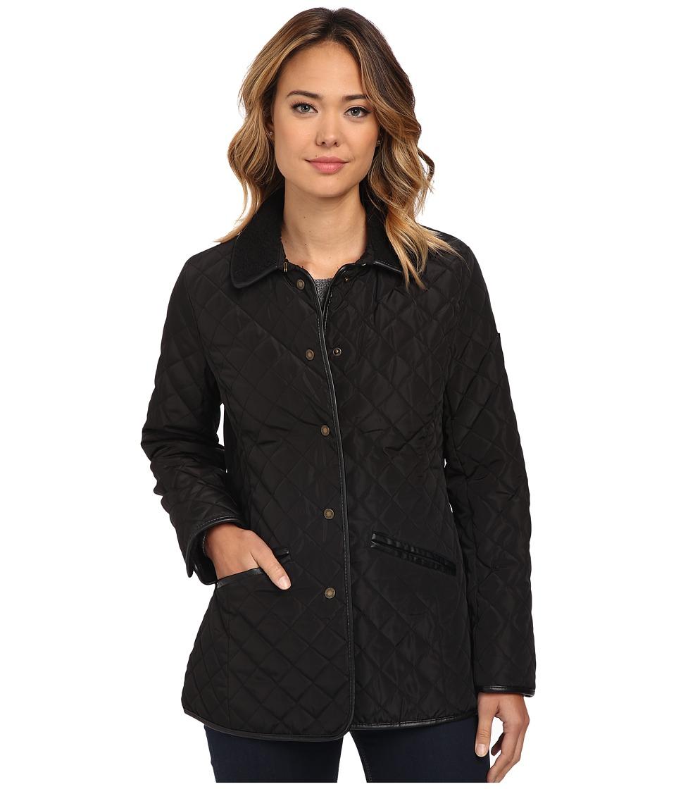 LAUREN Ralph Lauren - Berber Trim Barn (Black) Women's Coat