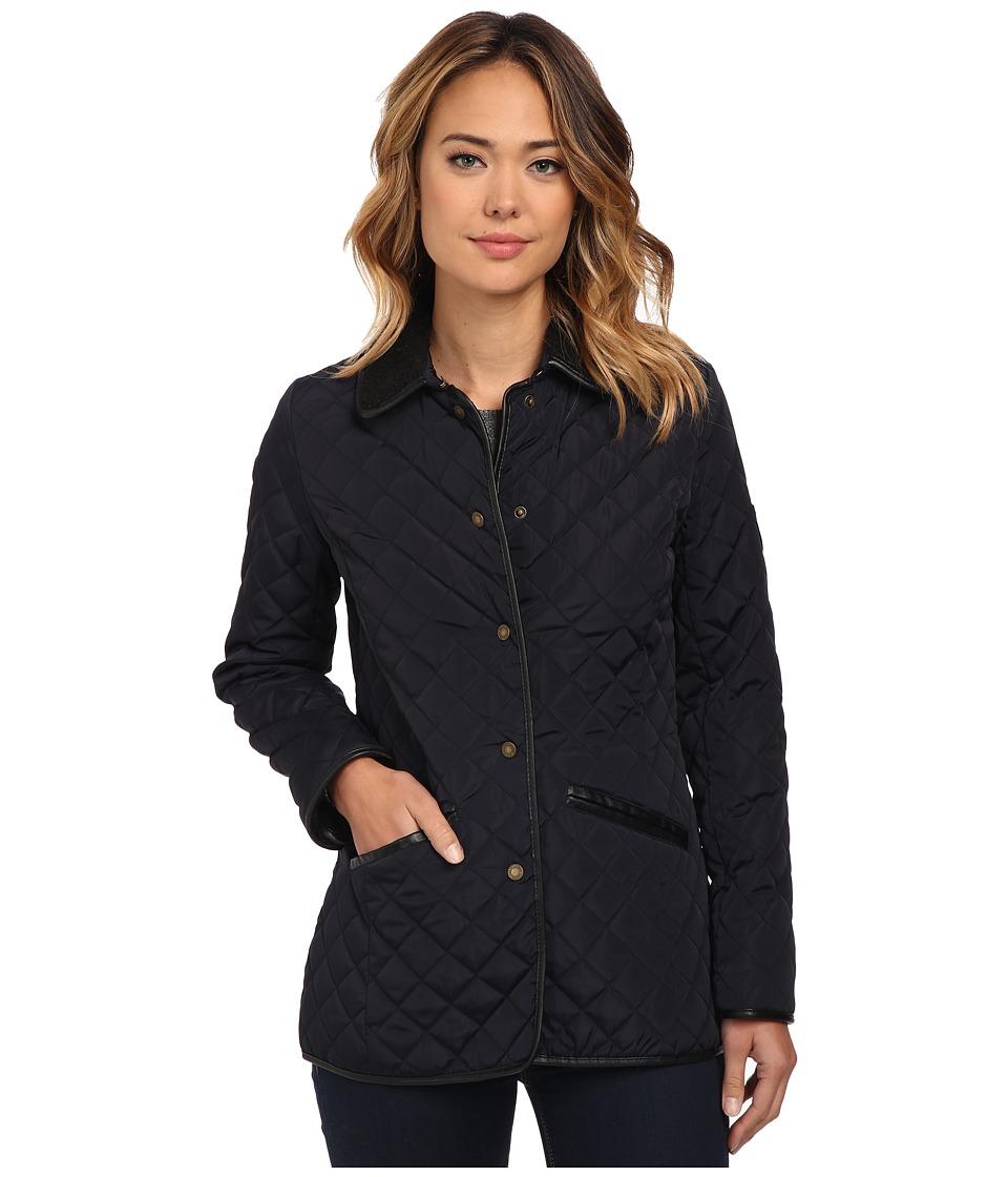 LAUREN Ralph Lauren - Berber Trim Barn (Dark Navy) Women's Coat
