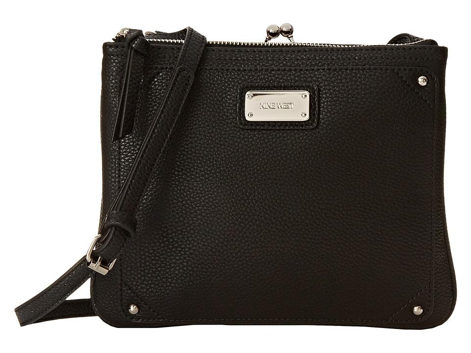 Nine West - Jaya Crossbody (Black) Cross Body Handbags