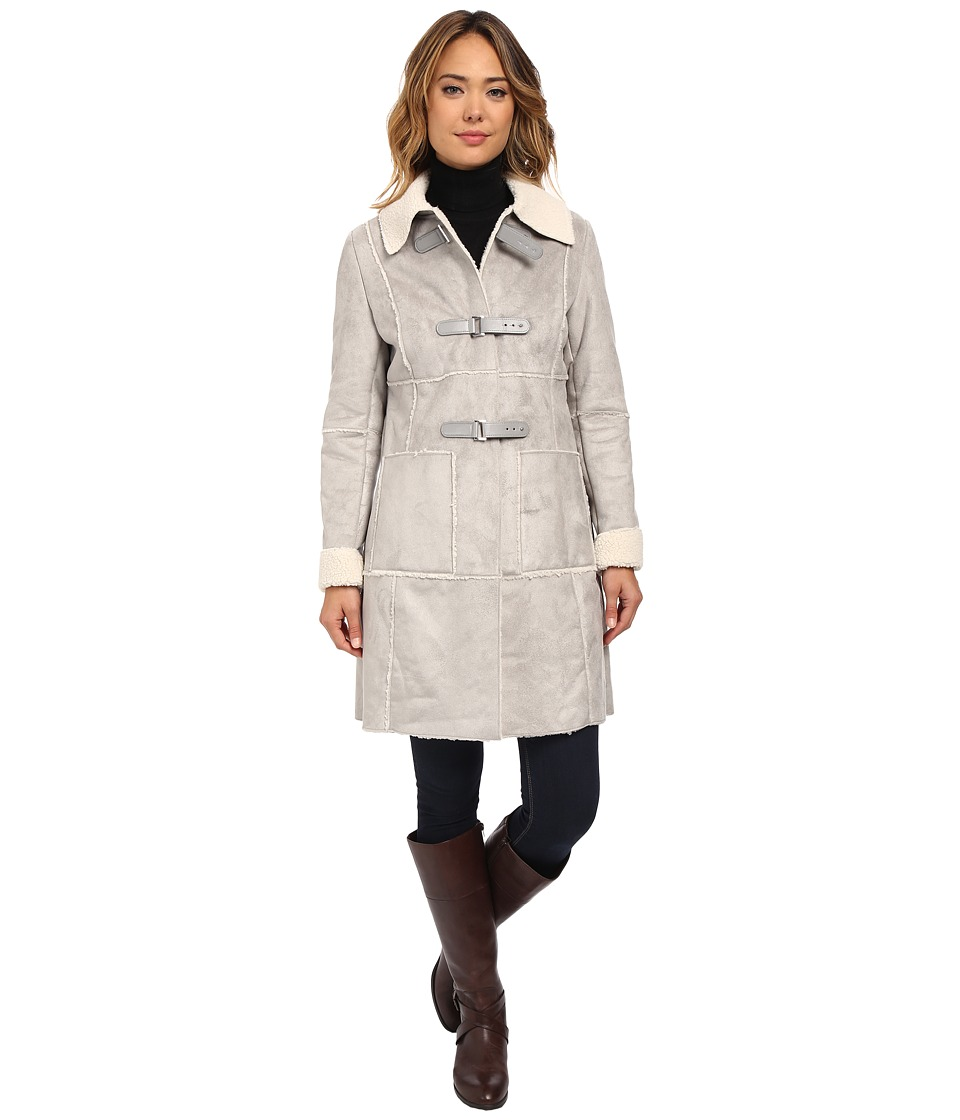 LAUREN Ralph Lauren - Shirt Collar (Alaskan Grey) Women's Coat