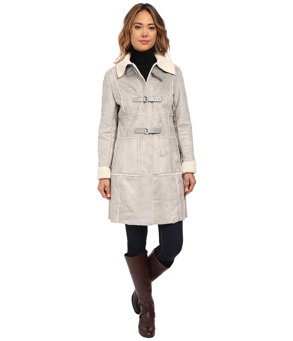 LAUREN Ralph Lauren - Shirt Collar (Alaskan Grey) Women's Coat