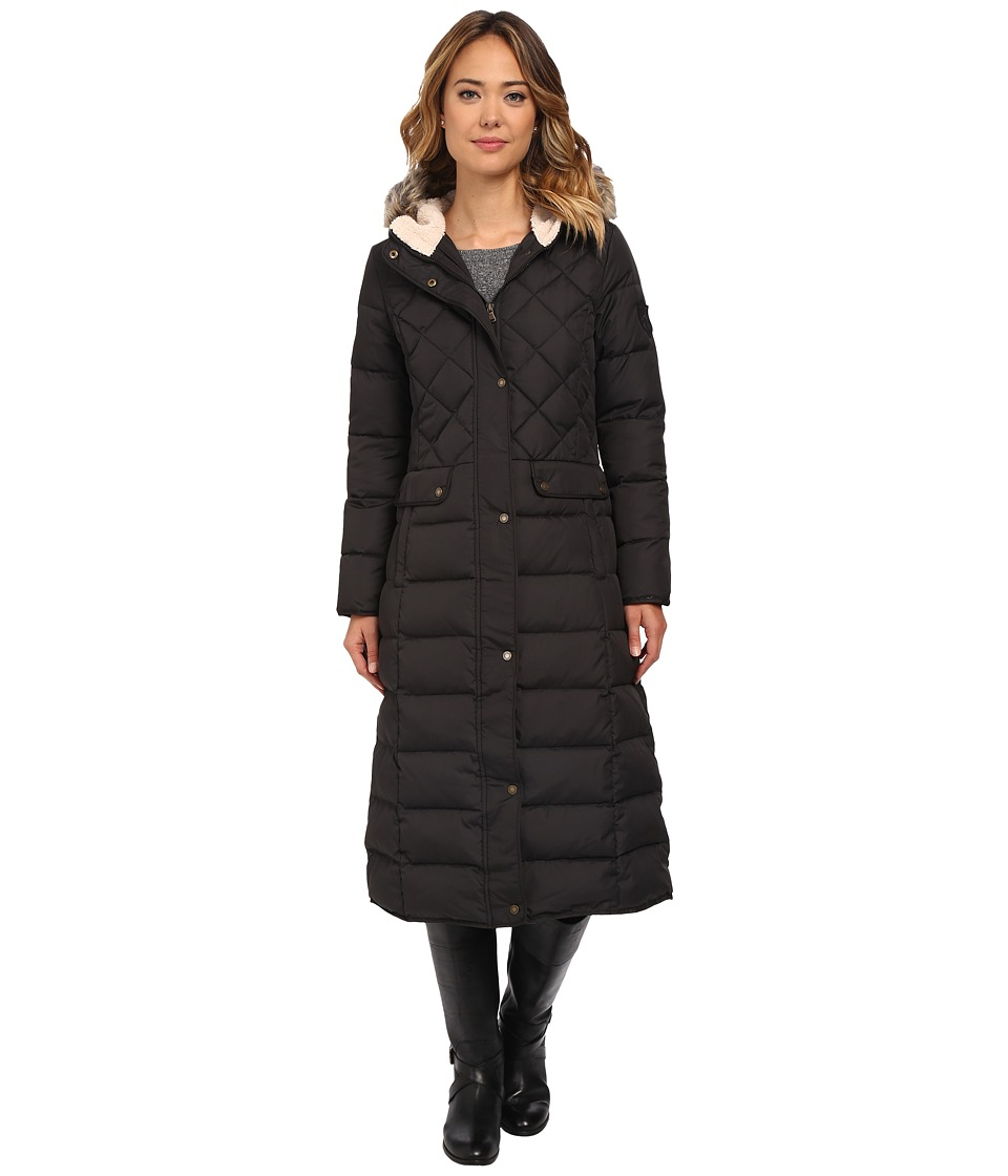 LAUREN Ralph Lauren - Diamond Horizontal Quilt Heavy Down Maxi (Black) Women's Coat