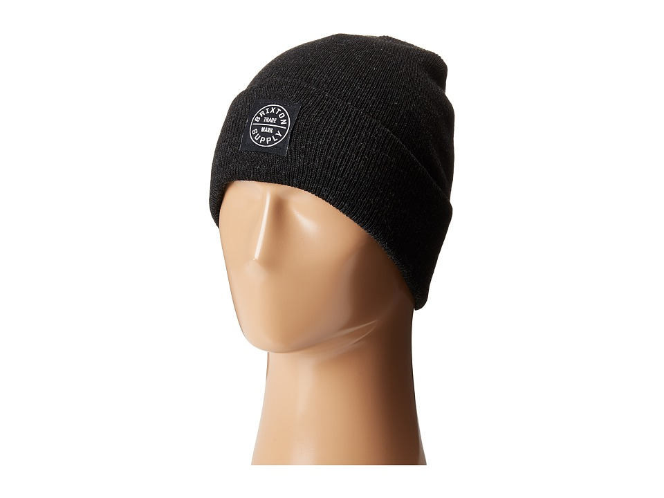 Brixton - Oath Watch Cap Beanie (Washed Black) Beanies