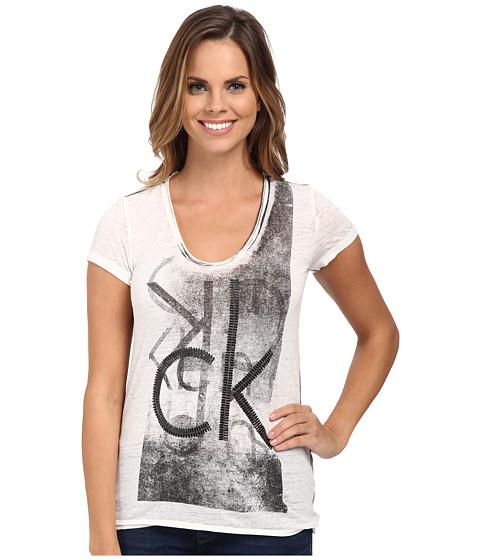 Calvin Klein Jeans - Stud Tee (White) Women