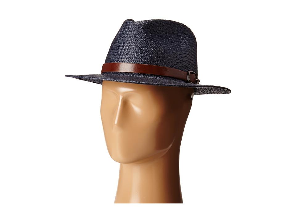 Brixton - Leighton Fedora (Navy) Fedora Hats
