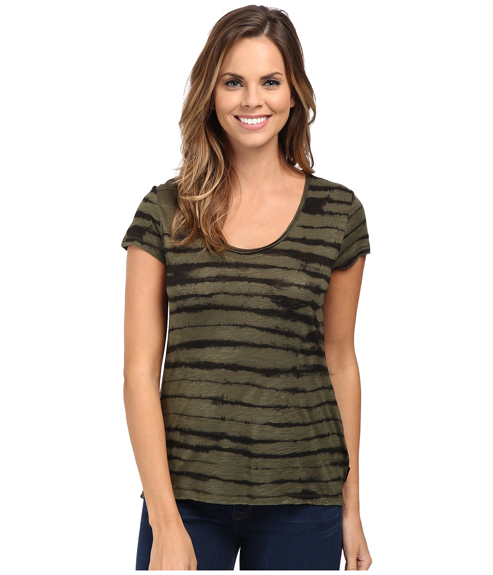 Calvin Klein Jeans - Short Sleeve Downtown Tee (Olive Night) Women's T Shirt