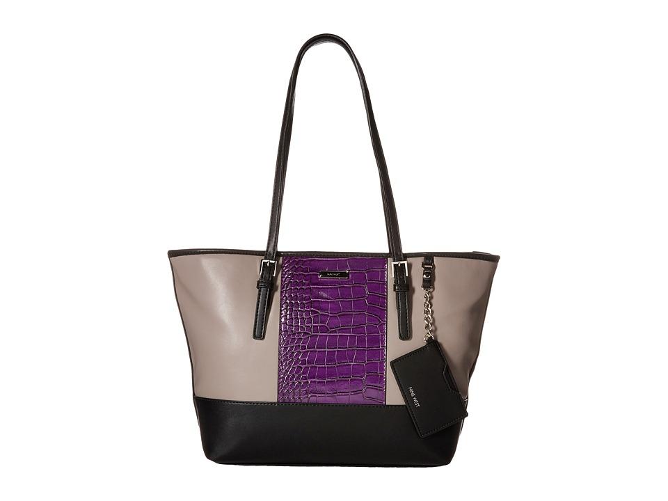Nine West - Ava Medium Tote (Elm/Mulled Berry/Black) Tote Handbags