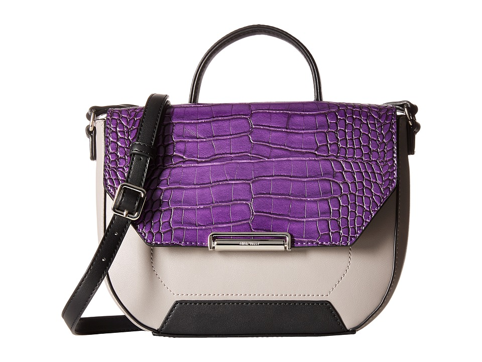 Nine West - Balancing Act Crossbody (Mulled Berry/Elm/Black) Cross Body Handbags