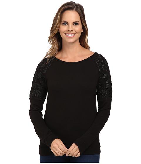 Calvin Klein Jeans - Caviar Sweatshirt (Black) Women's Sweatshirt