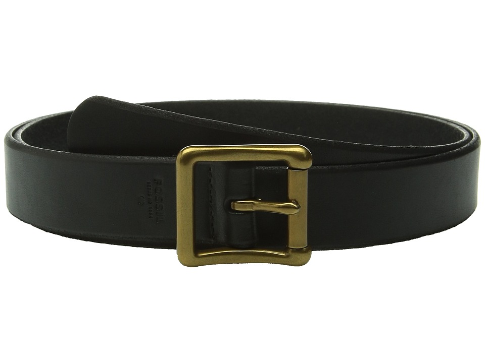 Fossil - Modern Roller Buckle Belt (Black) Women's Belts