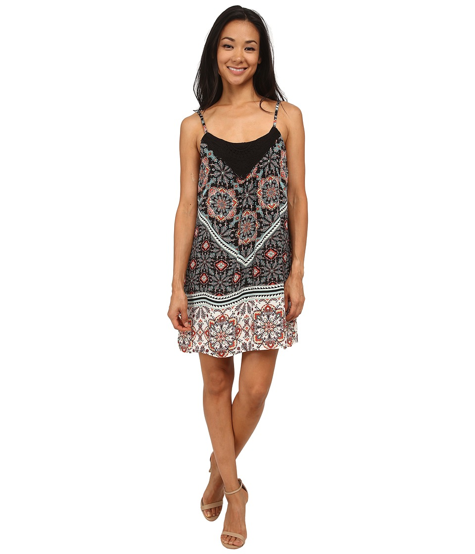 Gabriella Rocha - Chelsea Print Dress (Black/Cream) Women's Dress