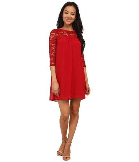Gabriella Rocha - Amy Lace Sleeve Dress (Scarlet) Women