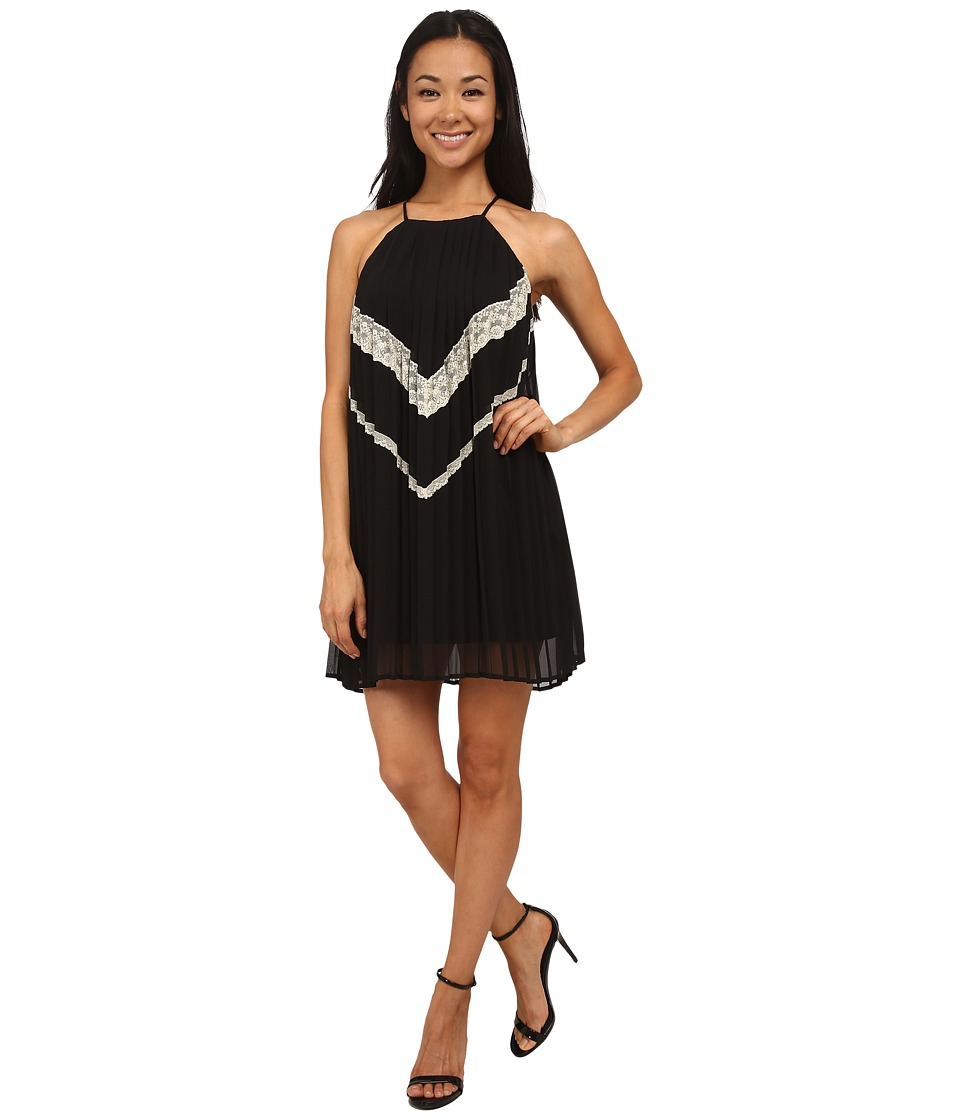 Gabriella Rocha - Marlene Lace Trim Dress (Black) Women's Dress