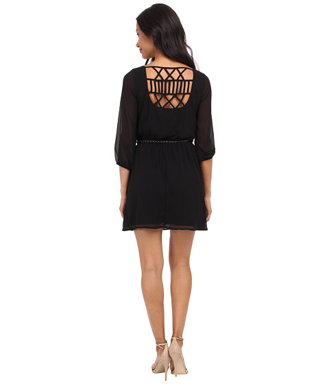 Gabriella Rocha - Sunday Belted Dress (Black) Women's Dress