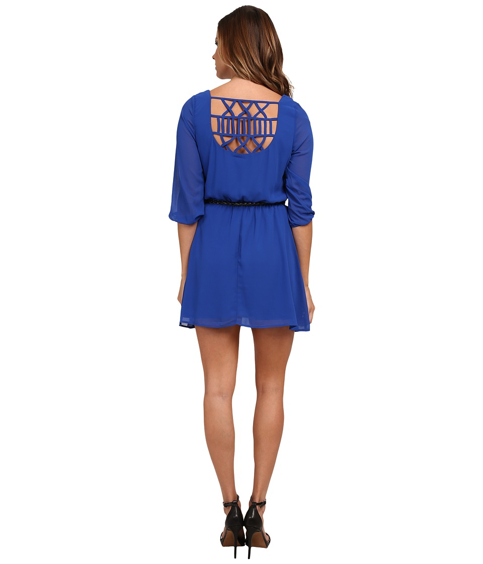 Gabriella Rocha - Sunday Belted Dress (Cobalt) Women's Dress