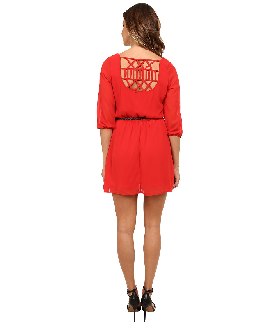 Gabriella Rocha - Sunday Belted Dress (Poppy Red) Women's Dress