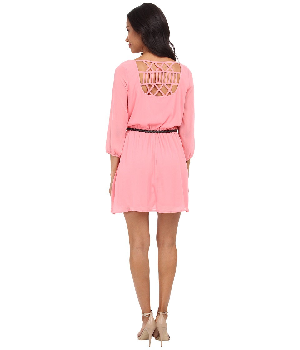 Gabriella Rocha - Sunday Belted Dress (Sunset Coral) Women's Dress