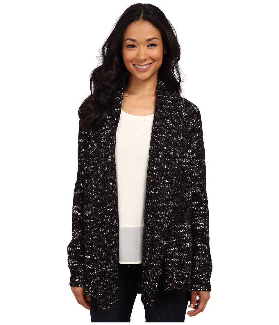 Calvin Klein Jeans - Marled Open Cardigan (Black) Women's Sweater