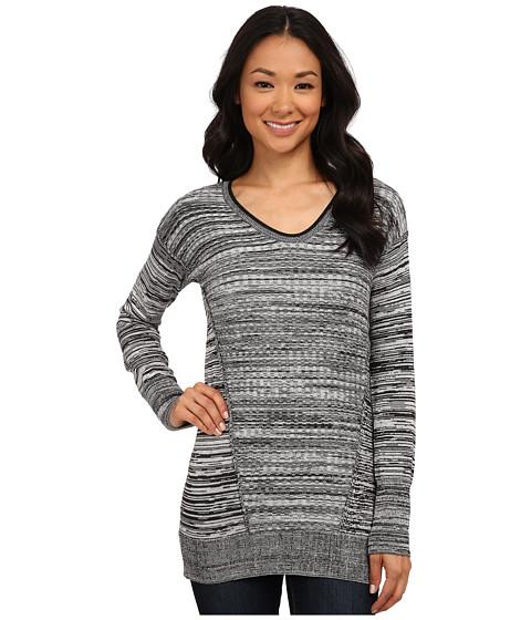 Calvin Klein Jeans - Stitch Mixed Scoop Neck (Black) Women's Sweater