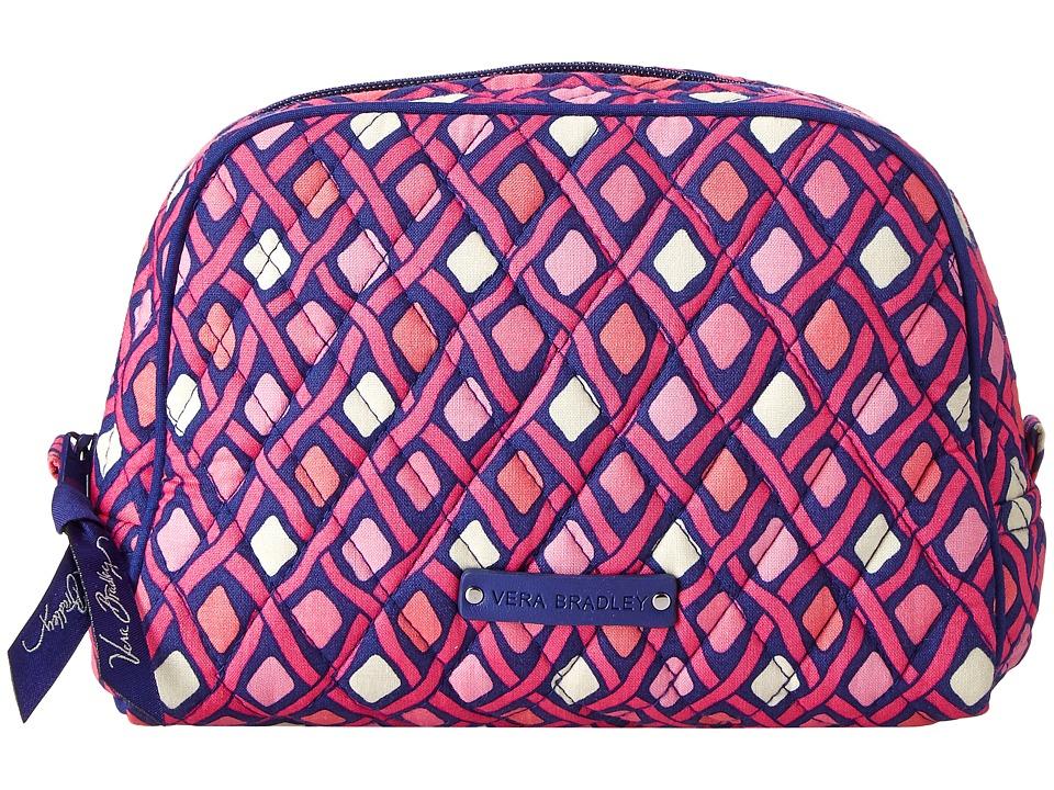 Vera Bradley Luggage - Medium Zip Cosmetic (Katalina Pink Diamonds) Cosmetic Case
