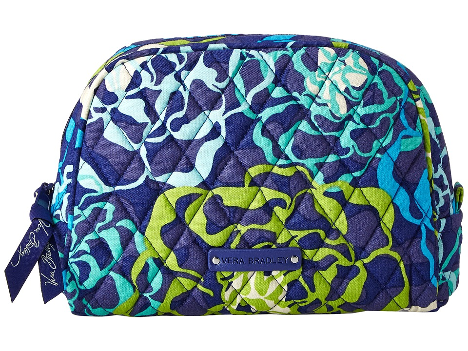 Vera Bradley Luggage - Medium Zip Cosmetic (Katalina Blues) Cosmetic Case