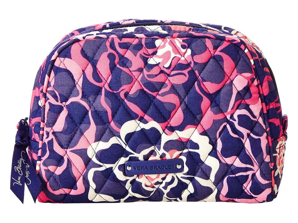Vera Bradley Luggage - Medium Zip Cosmetic (Katalina Pink) Cosmetic Case